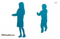 Kindergarteners Silhouette Image