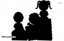 Children Clip Art Silhouette