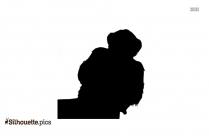 Monkey Sitting Silhouette Vector
