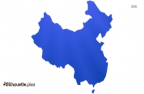 China Map Silhouette Clipart