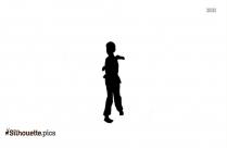 Shaolin Kung Fu Pose Silhouette