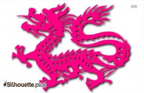 Chinese Dragon Silhouette Image