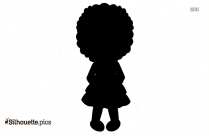 Cute Doll Clipart, Silhouette