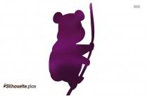 Chinese Panda Symbol Silhouette