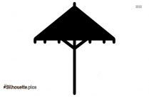 Chinese Umbrella Design Silhouette