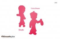 Chota Bheem Silhouette Clip Art
