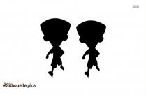 Super Bheem Cartoon Silhouette