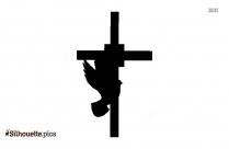 Gray Cross Silhouette