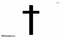 Cross Symbol Silhouette Image