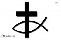 Atheist Symbol Silhouette Art