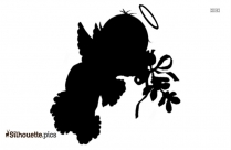 Christmas Angel Cartoon Image Silhouette