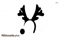 Christmas Antlers Silhouette