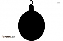 Christmas Ball Silhouette Black And White