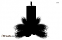 Christmas Candles Silhouette Drawing