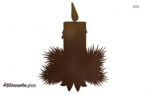 Cartoon Christmas Candles Silhouette