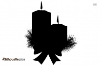 Christmas Candles Silhouette Picture