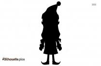 Christmas Cartoon Lady Silhouette Illustration