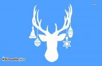 Deer Antlers Silhouette Picture