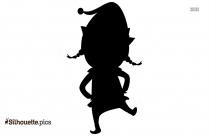 Christmas Elf Dancing Clipart Silhouette