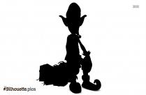 Christmas Elf Doll Silhouette Clip Art