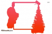 Christmas Paper Border Silhouette Picture