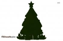 Christmas Star Silhouette, Clip Art