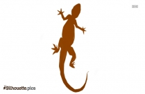 Christmas Lizard Silhouette Picture