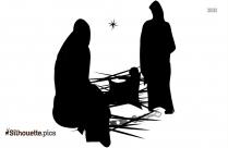 Christmas Snow Man Silhouette Vector And Graphics