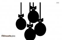Christmas Hangings Silhouette Drawing