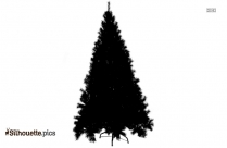 Christmas Tree With Star Silhouette Clipart