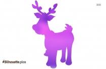 Baby Reindeer Silhouette Clip Art Vector Image