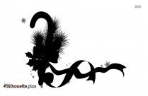 Christmas Ribbon Silhouette Illustration