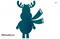 Rudolph Reindeer Christmas Silhouette Image