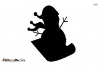 Snowman Clipart, Silhouette