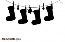 Christmas Socks Decoration Silhouette Image