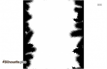 Christmas Tree Borders And Frames Silhouette