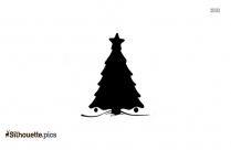 Christmas Tree Clipart Silhouette Image