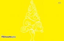 Christmas Swirls Silhouette