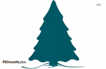 Xmas Tree With Star Vector Silhouette