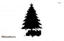 Christmas Tree With Gifts Silhouette Free Vector Art