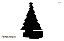 Christmas Tree With Presents Silhouette