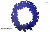 Christmas Wreath Silhouette Image
