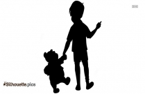 Black Tigger And Piglet Silhouette Image