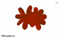 Chrysanthemum Flower Silhouette Clipart