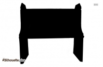 Church Bench Silhouette Drawing