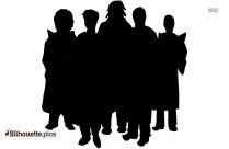 Church Choir Black And White Silhouette