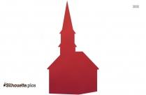 Catholic Church Vector Silhouette