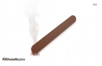 Cigarette Silhouette Icon