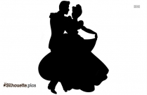 Cinderella And Prince Dancing Silhouette