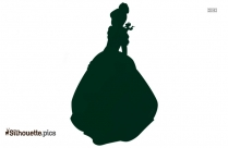 Black And White Cinderella Cartoon Silhouette